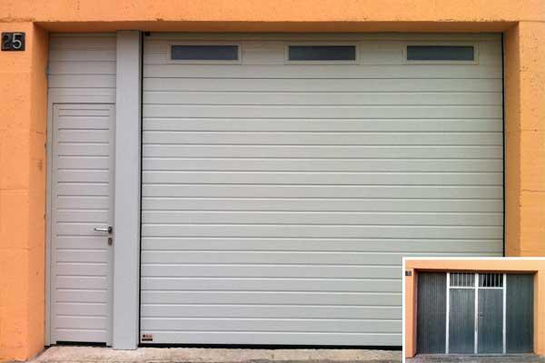 Puerta de garaje autom tica prat for Puertas automaticas garaje