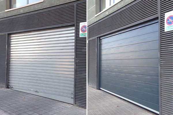 renovacion puerta comunidad