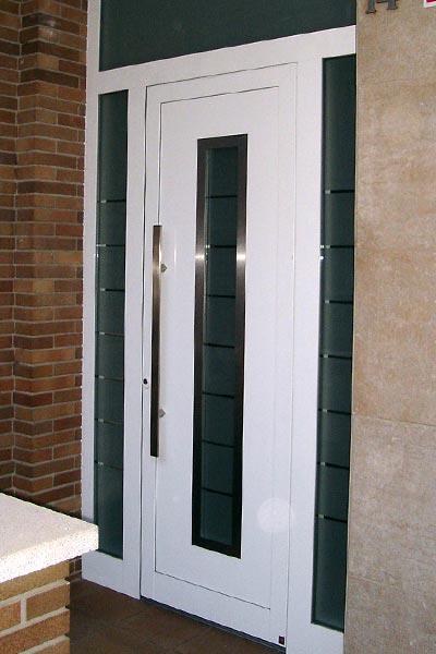 Empresa puertas autom ticas prat - Puertas de aluminio blanco para exterior ...